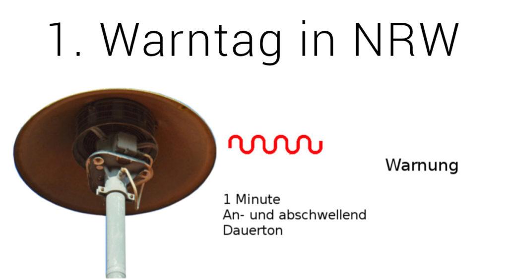 Erster Warntag NRW