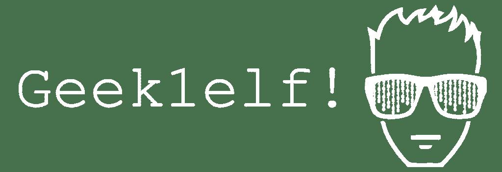 Weißes Geek1elf Logo